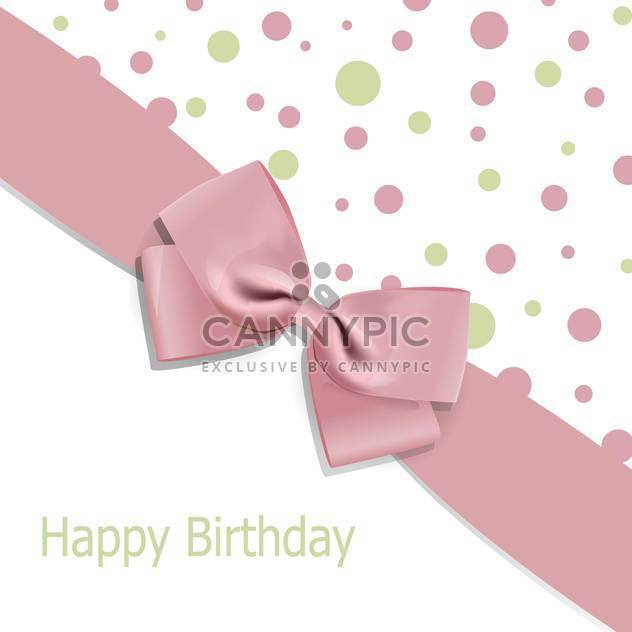 Vector birthday background with bow and space for text - Free vector #128182