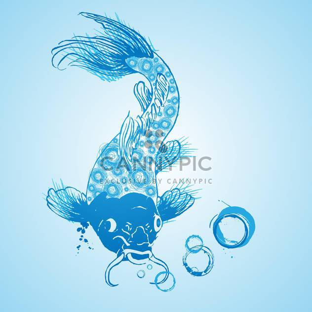 blue catfish vector icon in the water - Kostenloses vector #128252