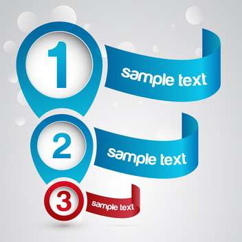 Three numbered web banners background - vector #128272 gratis