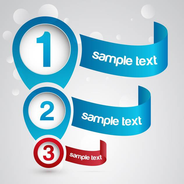 Three numbered web banners background - vector gratuit #128272