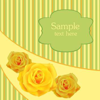 Yellow roses background and place for text - vector #128322 gratis