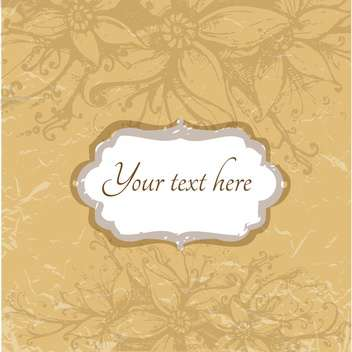 Vintage floral background with space for text - бесплатный vector #128392
