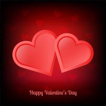 Vector illustration of pair of valentine heart - vector gratuit #128402