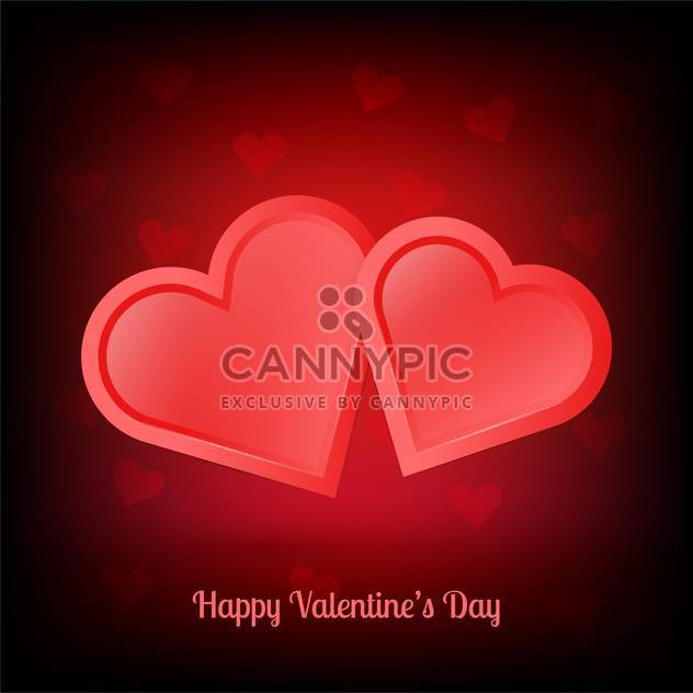 Vector illustration of pair of valentine heart - Free vector #128402