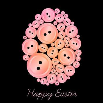Vector illustration of egg made of buttons. - Free vector #128432