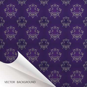 Vector vintage background with folded corner - vector #128452 gratis