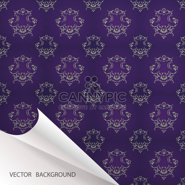 Vector vintage background with folded corner - Free vector #128452