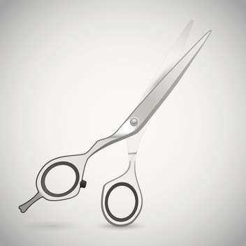 Vector illustration of cutting scissors. - vector gratuit #128542
