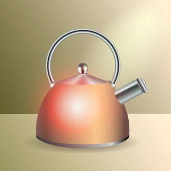 Vector illustration of glossy kettle - vector gratuit #128552
