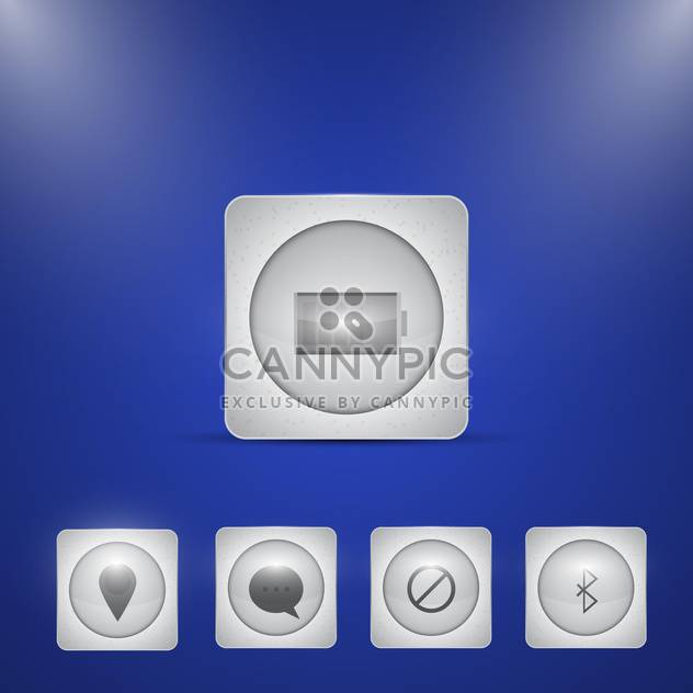 Computer Related Vector Web Icons - Free vector #128592