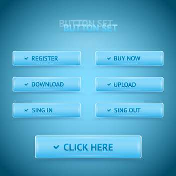 Vector blue premium web buttons. - vector #128612 gratis