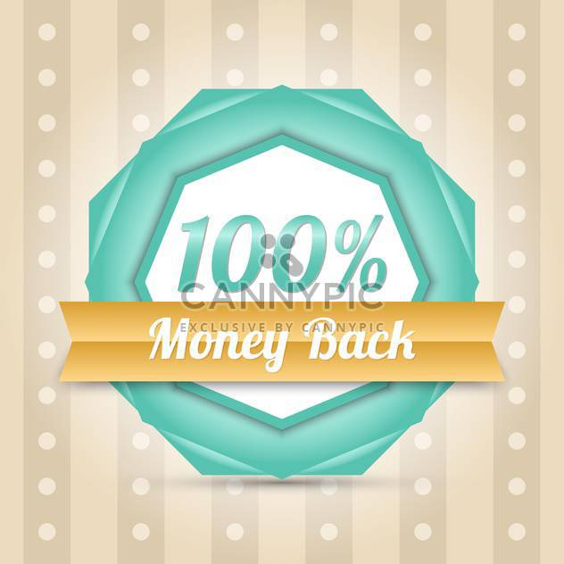 Vector blue money back label - Kostenloses vector #128642