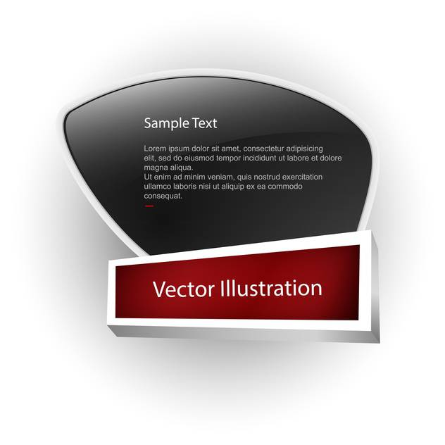 Vector banner with white sample text on black board - бесплатный vector #128742