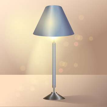 Vector illustration of shining floor lamp. - vector gratuit #128802