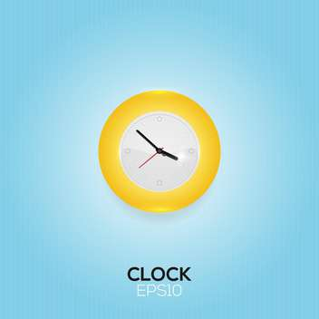 Vector illustration of clock on blue background - vector gratuit #128832