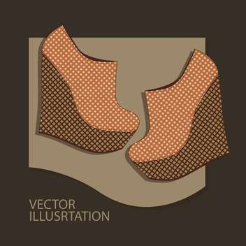 Vector background with brown woman shoes. - vector gratuit #128862