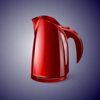 Red electric kettle vector illustration - бесплатный vector #128902