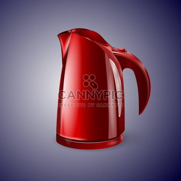 Red electric kettle vector illustration - Free vector #128902