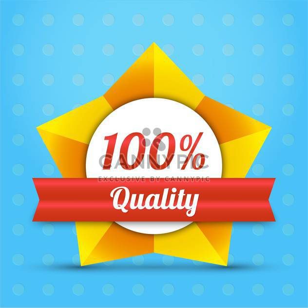 vector quality star badge label - vector gratuit #128962