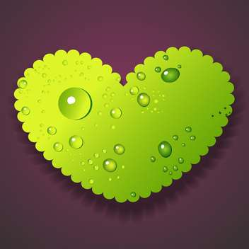 vector water drops on heart - vector gratuit #128982