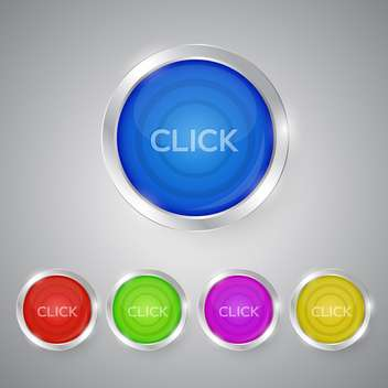 set of click vector buttons - Free vector #129002