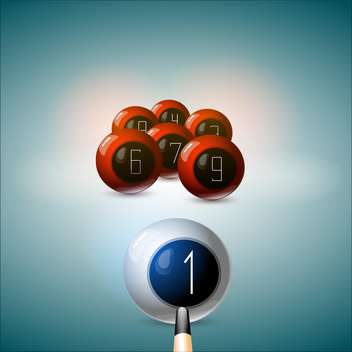 cue hit on white billiard ball - vector gratuit #129012