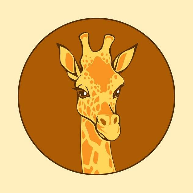 head of giraffe vector illustration - vector #129022 gratis
