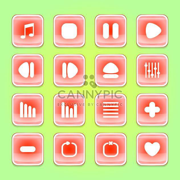 media web vector buttons set - Free vector #129072