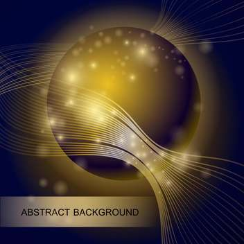 abstract background with gold glass ball - vector #129082 gratis