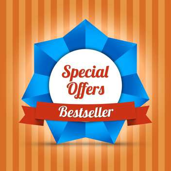 bestseller special offers label - бесплатный vector #129112