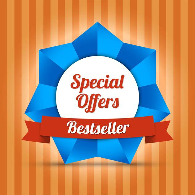 bestseller special offers label - vector #129112 gratis