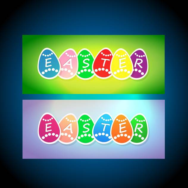 vector easter holiday cards - vector #129122 gratis