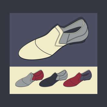 male shoes vector background - vector #129142 gratis
