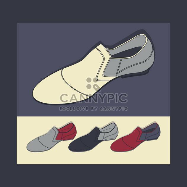 male shoes vector background - Free vector #129142