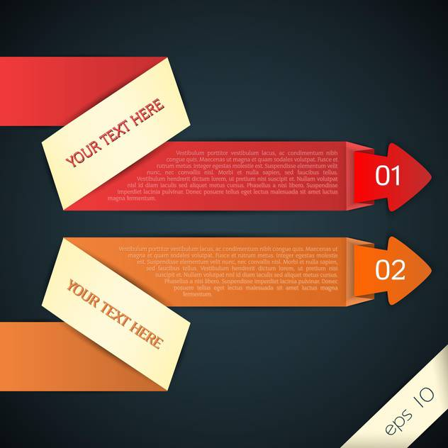 vector web arrows for text - vector gratuit #129152