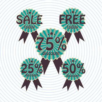 set of vector shopping sale labels - vector gratuit #129172