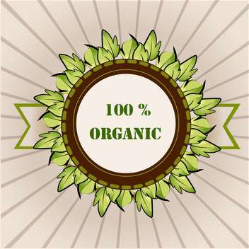 vector organic product label - vector gratuit #129202