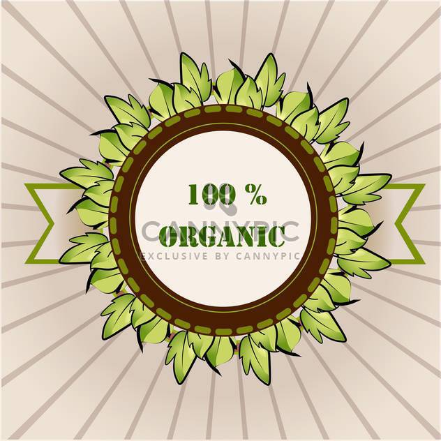 vector organic product label - Free vector #129202