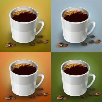 vector set of coffee cups - vector gratuit #129212