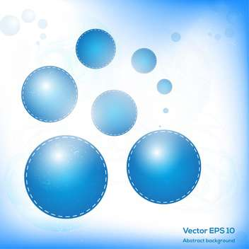 blue balls modern abstract background - vector gratuit #129222