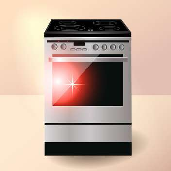 vector electric kitchen oven illustration - vector gratuit #129232