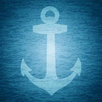 vector illustration of marine anchor - vector gratuit #129252