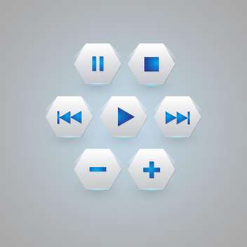 media player buttons collection - vector #129272 gratis