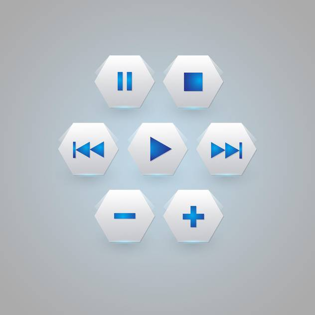 media player buttons collection - бесплатный vector #129272