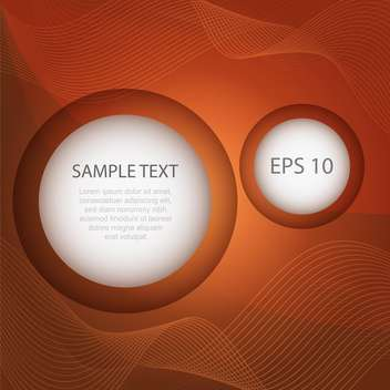 Abstract vector brown background with circle frames - vector #129762 gratis