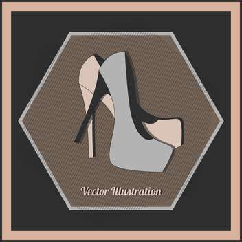 Vector illustration of fashion female high heel shoes - vector gratuit #129782