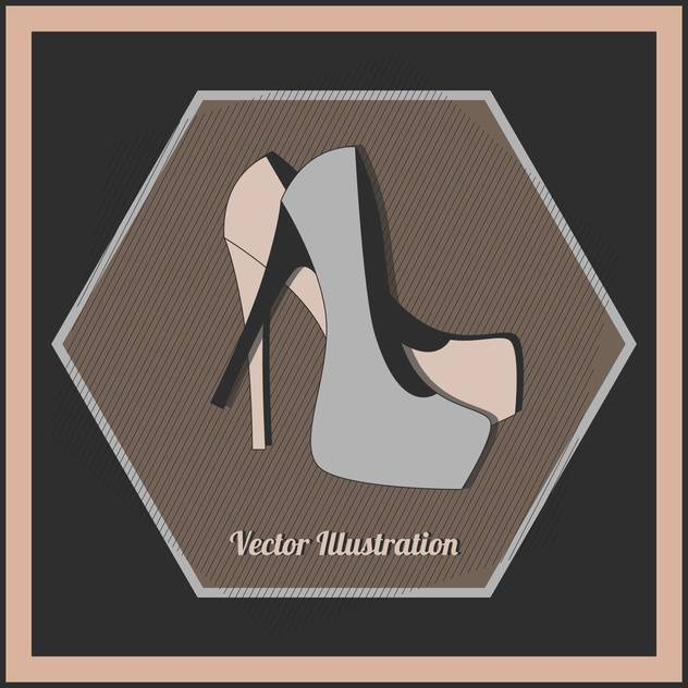 Vector illustration of fashion female high heel shoes - бесплатный vector #129782