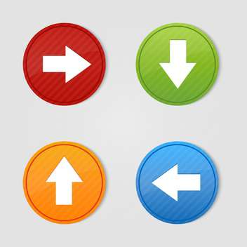 Vector set of colorful arrows buttons - Free vector #129882