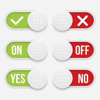 Vector buttons with alternative red and green word signs - vector gratuit #129892