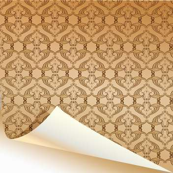 Vintage yellow wallpaper pattern background - Free vector #129902